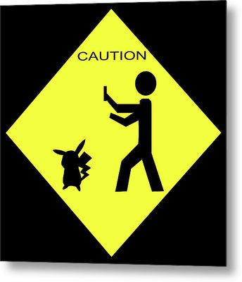 Metal Print featuring the photograph Pokemon Go by Shane Bechler