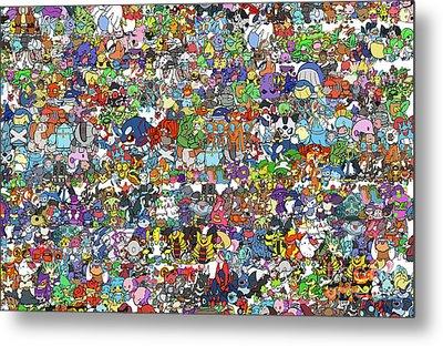 Pokemon  Metal Print by Mark Ashkenazi