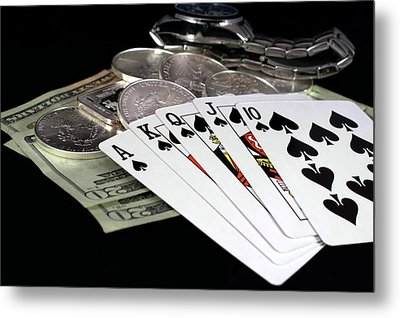 Poker - The Winning Hand Metal Print