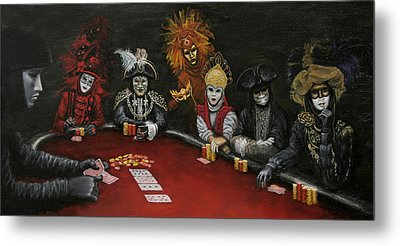 Metal Print featuring the painting Poker Face II by Jason Marsh