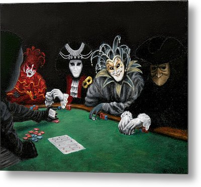 Metal Print featuring the painting Poker Face by Jason Marsh