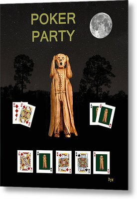 Poker Scream Party Poker Metal Print