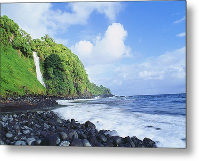 Pokupupu Point Metal Print by Peter French - Printscapes