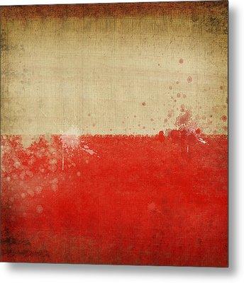 Poland Flag  Metal Print