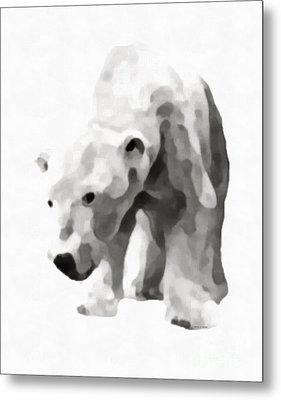 Polar Bear Painting Metal Print by Edward Fielding