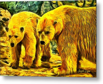 Polar Bears - Da Metal Print