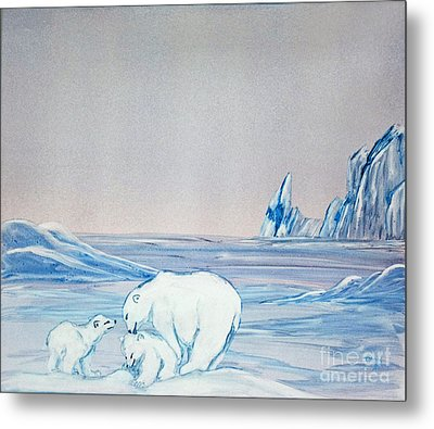 Polar Ice Metal Print by Terri Mills