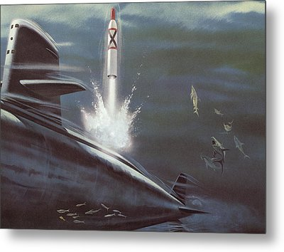 Polaris Surface To Surface Rocket Metal Print by American School