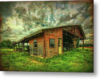 Metal Print featuring the photograph Pole Barn by Lewis Mann