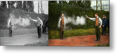 Police - A Real Dummy 1923 - Side By Side Metal Print