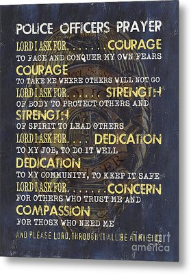 Police Officers Prayer Metal Print by Debbie DeWitt