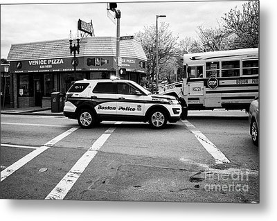 police police ford interceptor suv patrol vehicle on call Boston USA Metal Print