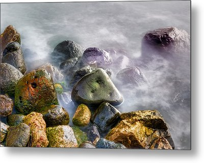 Polished Rocks Metal Print