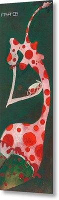 Metal Print featuring the painting Polka Dots by Maya Manolova