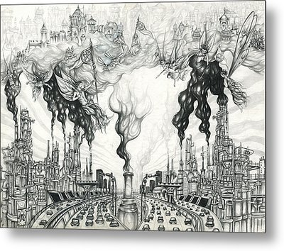 Pollution Rebellion Metal Print by Alma