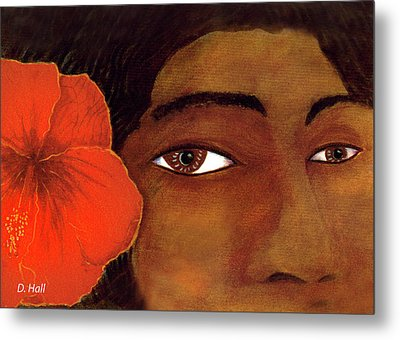 Polynesian Girl #67 Metal Print by Donald k Hall