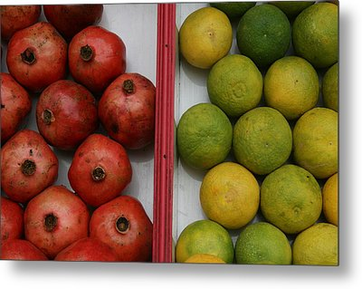 Pomegranate And Sweet Lime Metal Print by Deepak Pawar
