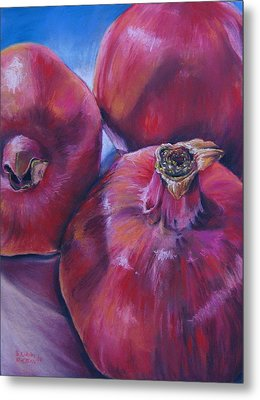 Pomegranate Power Metal Print