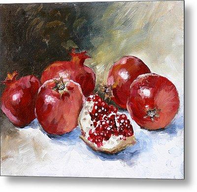 Pomegranate Metal Print by Tanya Jansen