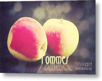 Pommes Metal Print by Angela Doelling AD DESIGN Photo and PhotoArt