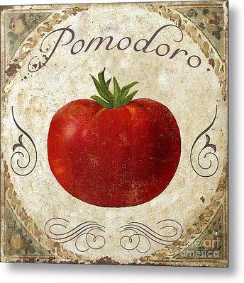 Pomodoro Tomato Italian Kitchen Metal Print by Mindy Sommers