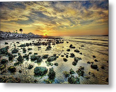 Ponce Inlet Jetty Metal Print