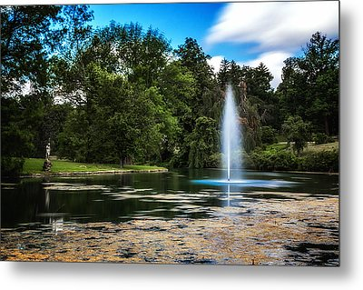 Pond At Spring Grove Metal Print