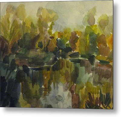 Pond Metal Print by Darya Gavroff