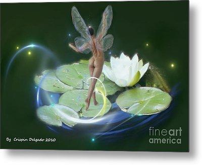 Pond Lilies Metal Print by Crispin  Delgado
