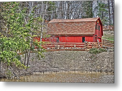Metal Print featuring the photograph Pond Overlook 2 by Greg Jackson