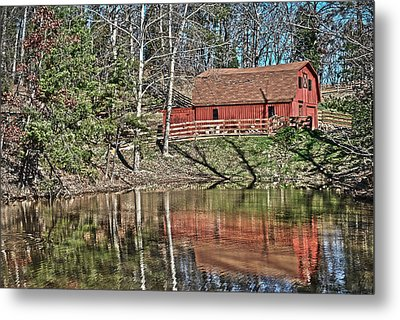 Metal Print featuring the photograph Pond Overlook by Greg Jackson