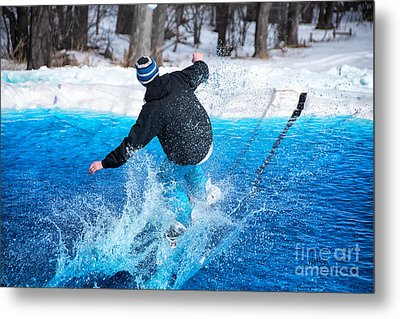 Pond Skimming Metal Print by Lois Bryan
