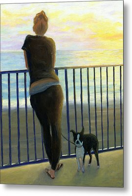 Pondering The Pacific Metal Print by Karyn Robinson