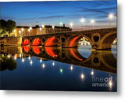 Metal Print featuring the photograph Pont Neuf In Toulouse by Elena Elisseeva