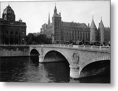 Pont Neuf, Paris, C. 1910 Metal Print by Everett