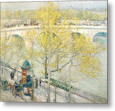 Pont Royal Paris Metal Print by Childe Hassam