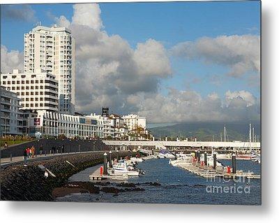 Ponta Delgada Waterfront Metal Print by Gaspar Avila