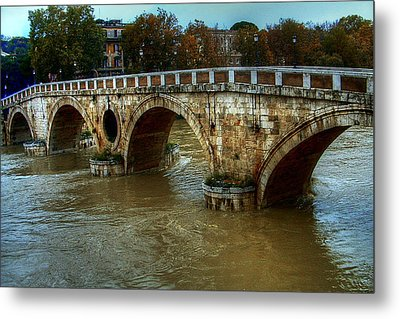 Ponte Sisto Bridge Rome Metal Print