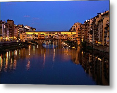 Ponte Vecchio Dusk  Metal Print by Harry Spitz