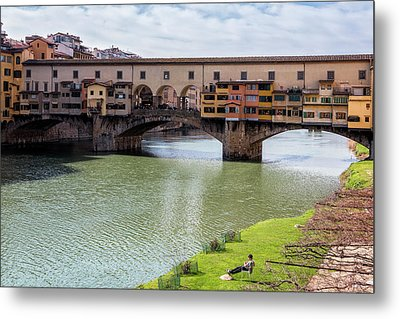 Metal Print featuring the photograph Ponte Vecchio Florence Italy II by Joan Carroll