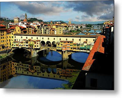 Ponte Vecchio View  Metal Print by Harry Spitz