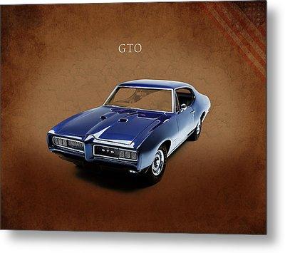 Pontiac Gto Metal Print by Mark Rogan