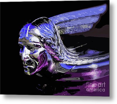 Pontiac Indian Head Hood Ornament Metal Print by Patricia L Davidson