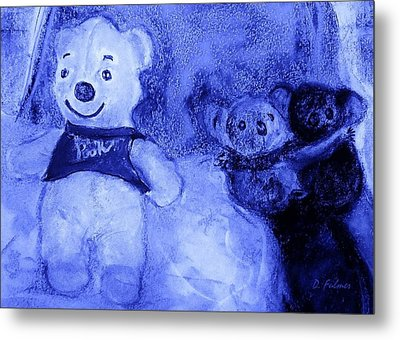 Pooh Bear And Friends Metal Print by Denise Fulmer