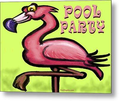 Pool Party Metal Print by Kevin Middleton