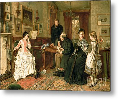 Poor Relations Metal Print by George Goodwin Kilburne