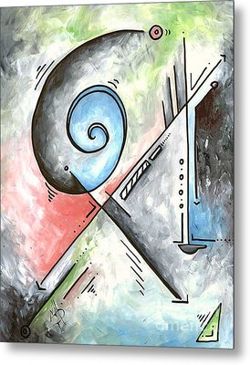 Pop Art Abstract Contemporary Pastel Painting Unique Style By Madart Metal Print