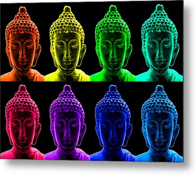 Pop Art Buddha  Metal Print by Fabrizio Troiani