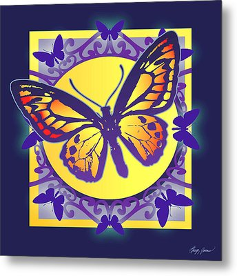 Pop Art Butterfly Metal Print