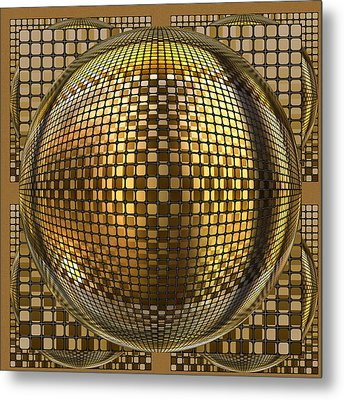 Pop Art Circles Metal Print